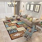CJW Teppichboden Matte Wohnzimmer einfaches Schlafzimmer Yoga Baby Nordic Couchtisch Sofa Baby Matte modern (Color : C, Größe : 4.6'X6.5')