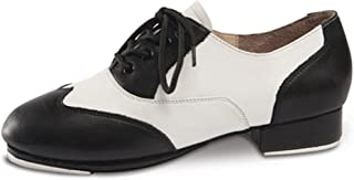 DanceNwear Youth/Adult Applause Black and White Spectator Tap Shoe