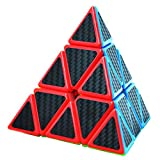 DDG EDMMS 1pc Pyramide Stickerless Speed ??Cube Triangle Cube Puzzle Noir