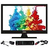 antarion Televisión TV LED HD de 15,6(39,6cm)) TNT 12V 24V 220V ideal camping