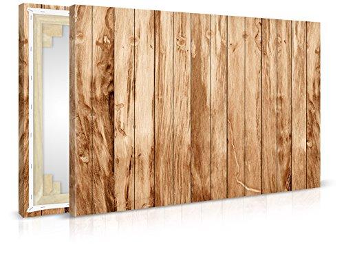 XXL-behang canvasfoto Teak Wood - klaar opgespannen - schilderijen, kunstdruk, wandschildering, spieraam, afbeelding op canvas van trendmuren 90x60cm