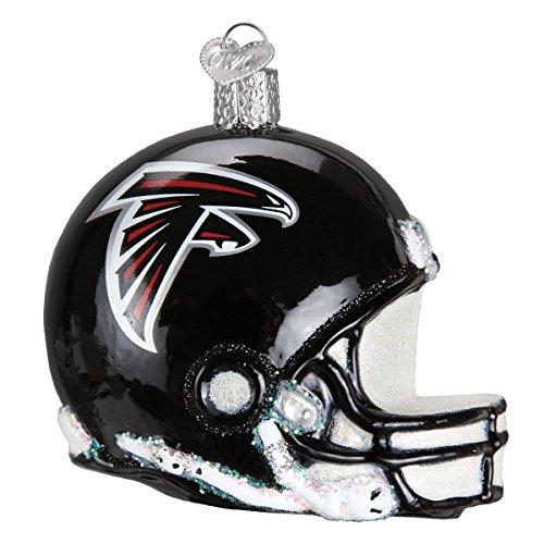 Old World Christmas Atlanta Falcons Glass Blown Ornaments for Christmas Tree Helmet