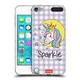 Official emoji Unicorn Sparkle Cutesy Soft Gel Case Compatible for Apple iPod Touch 5G 5th Gen