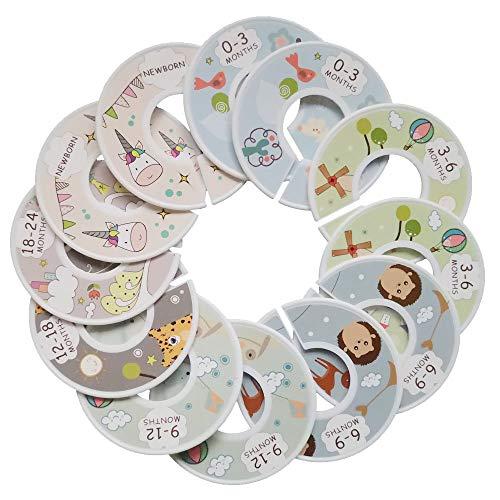 Dhaus Baby Kleiderschrank Trennwände Baby Kinderzimmer Organizer Kleidung Größe Trennwand Set 12 Tiere 2 Muster