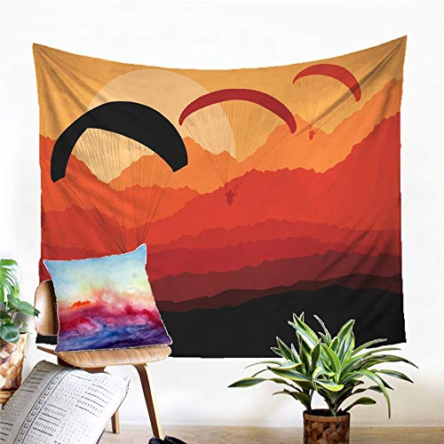 N / A Tapestry home decoration Paragliding Tapestry Wall Hanging Sandy Beach Picnic Rug Camping Tent Sleeping Pad Home Decor Bedspread Sheet Wall Cloth