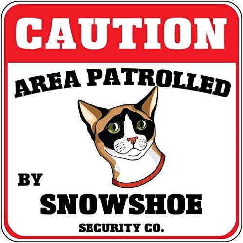 Schild mit Schneeschuh-Motiv Area Patroll by Snowshoe Cat Crossing, Aluminium, Geschenk für Garage, Auffahrt, Wand Dekoration