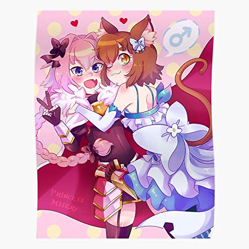 ISSICARHO Zero Astolfo Felix Apocrypha Fate Anime Traps Argyle Re, Gift for Home Decor Wall Art Print Poster