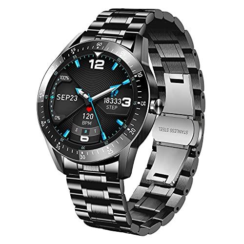 BEN NEVIS Smartwatch,Fitnessuhr mit Schrittzähler Blutdruckmessung Fitness Tracker Wasserdicht Armbanduhr Sportuhr Smart Watch mit Herzfrequenzmessung Schlafmonitor für Herren iOS Android