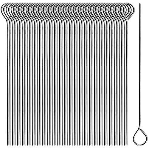 com-four® 50x Rouladennadeln aus Edelstahl - 11 cm lange Fleischspieße - premium Spieße im Set (050 Stück - Nadel)