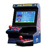 Monsterzeug Retro Mini Spielautomat mit Dual-Controller, Arcade Automat, Mini Spielekonsole, 80er...