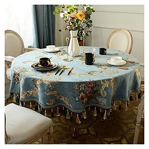 Wohnzimmerzubehör Stolze Rose Tischdecke Verdicken Tischdecken Haushalt Rechteckige Abdeckung Tuch Staubdicht Individuell (Farbe : Blau Spezifikation : 130x130cm)