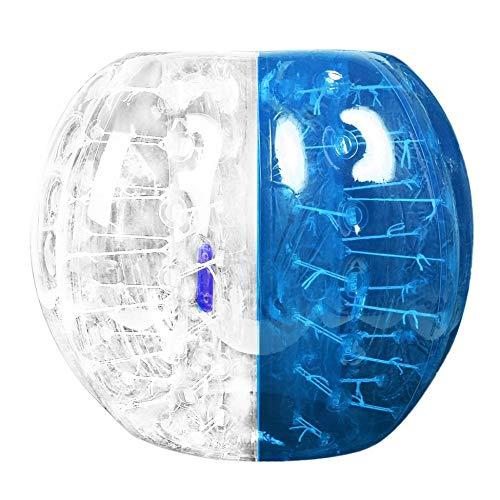 Golpeador humano 0.8 mm de espesor Bolas de amortiguación de burbujas inflables Bumper Soccer Zorb Ball para adultos Actividad al aire libre Running Game - Azul