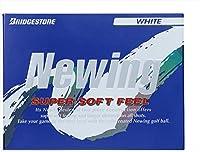 ブリヂストン(BRIDGESTONE) ゴルフボール ニューイング ニューイング スーパーソフトフィール ユニセックス NCWX ホワイト グラデーショナル・ソフトコア