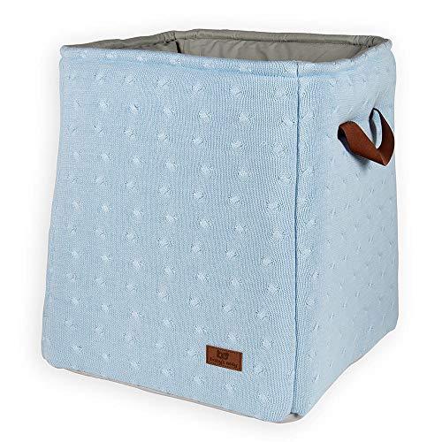 BO Baby's Only - Panier de rangement Cable - Bleu Ciel - 50% coton/50% acrylique