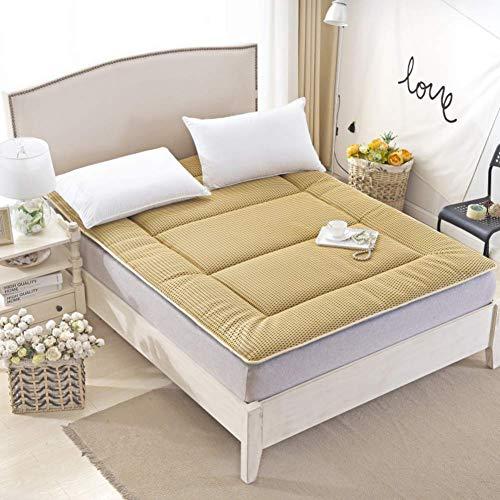 GONGFF mattress, tatami futon mattress, Foldable bed mattress topper Queen Double Soft Sleeping pad Non-slip mats Roll up Memory foam -E 100x200x5cm(39x79x2inch)