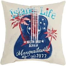"""Margaritaville """"Island Life"""" Reversible Indoor/Outdoor Pillow"""
