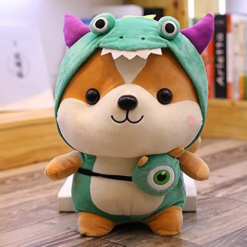 AHYYY Ardilla transformada muñeca Juguete niña Almohada para Dormir Cama Linda muñeca muñeca Regalo de cumpleaños Femenino,Verde 25 cm