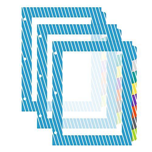 Amazon Basics 8-Tab Plastic Binder Dividers, Writable Multicolor Tabs, 3 Sets
