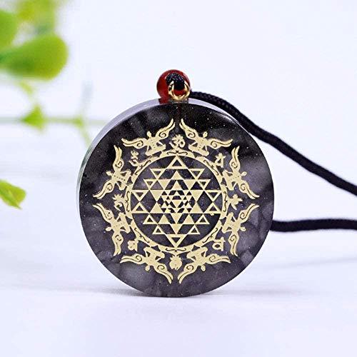 LBBYMX Co.,ltd Necklace Orgonite Luminous Pendant Necklace Crystal Pendant Necklace Healing Stone Reiki Chakra Spiritual Healing Jewelry Necklace