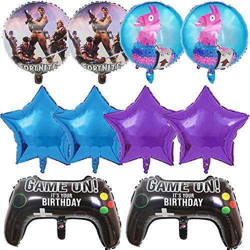 BESLIME Video Gaming Spiel Partyzubehör, Joystick Controller Ballon für Jungen Geburtstagsfeier Hängende Dekor und Gamer Unter dem Motto Luftballons für Jungen Geburtstagsfeier, 13 PCS