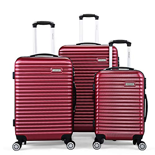 quality luggages Sandinrayli Hardside Luggage Set, 20
