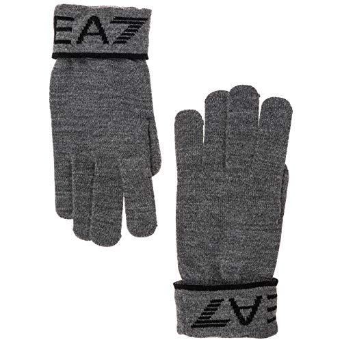 Emporio Armani EA7 herren Handschuhe grey/black M