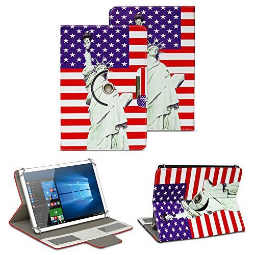 NAUC Tablet Tasche für Odys ACE 10 Ständerfunktion Hülle Schutztasche Stand Tasche Etui Cover Universal 10.1 Zoll Hülle Schutzhülle, Farben:Motiv 3