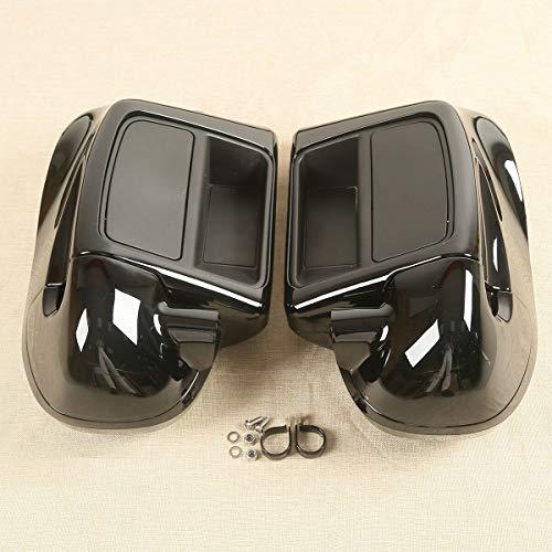 TCT-MT 6-1/2' Speaker Box Pod+Lower Vented Fairing For Harley Road King FLHR Street Glide FLHX FLHXS 2014-2020; Road Glide FLTRX FLTRXS Freewheeler FLRT 2015-2020; Electra Glide FLHTCU 2014-2019 Black