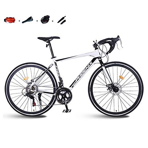 SOAR Mountain Bike MTB Mountain Bike Strada Uomo Biciclette 14 velocità 26 Pollici Ruote for Donne Adulte (Color : White)
