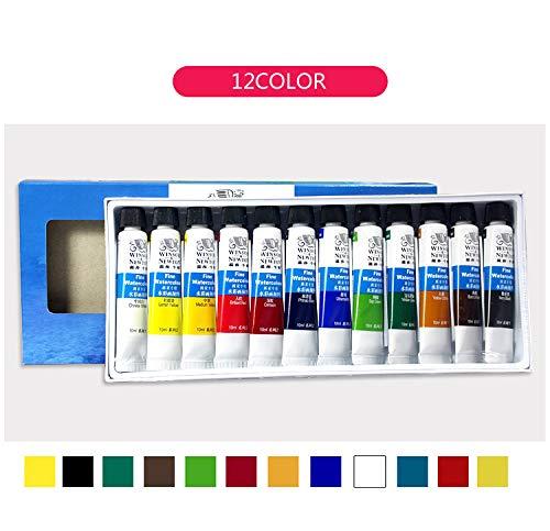 12/18/24Color - Pintura de acuarela profesional, pigmento de color de agua para pintura artística 12color