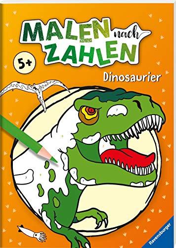 Malen nach Zahlen ab 5 Jahren: Dinosaurier