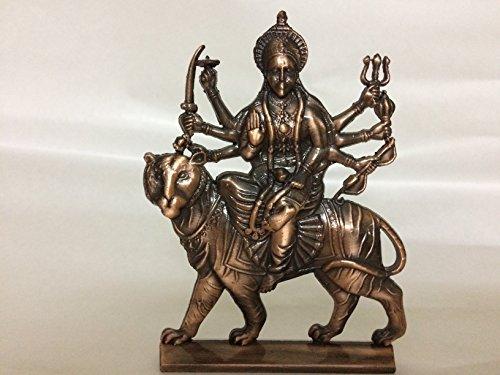 Hindu Göttin Durga Metall Messing Skulptur Kunst Statue Religiöse Maa Vaishno