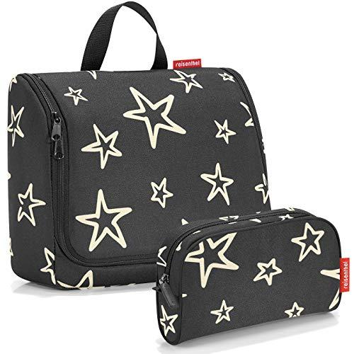reisenthel Exklusiv-Set: toiletbag XL 28x25x10cm große Kulturtasche zum aufhängen aufklappbar + GRATIS makeupcase (Stars)