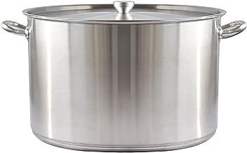 Stock Pot, 304 RVS Soepemmer met deksel, Huishouden/Commerciële Soep Stoofpot, (30-50cm) voor Gasfornuis/Inductie Fornuis...