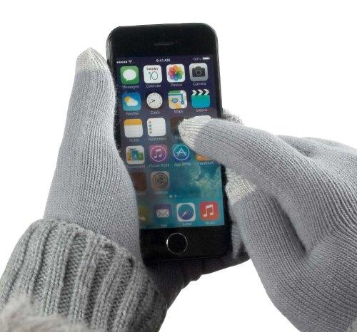 yayago Touchscreen Handschuhe kapazitiv Universalgröße (ca. M – L) – für HTC U11 / U11 Dual / U11 Life / U11 Plus