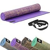 Sternitz Esterilla de Yoga ó Pilates Antiresbalante - Acolchada - Ecológica - Transportable....