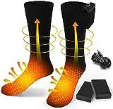 Calcetines calefactables eléctricos para hombres y mujeres, calcetines de invierno de algodón,...