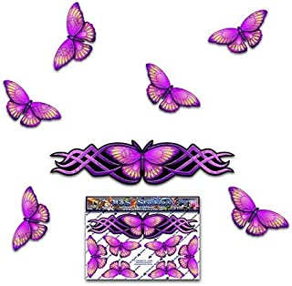 Pink Graphic BUTTERFLY Small Decal ANIMAL Sticker For Car Caravans Trucks & Boats ST00021PK_SML - JAS Stickers