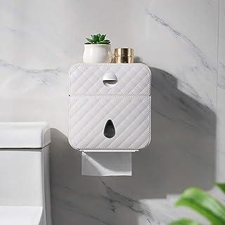 صينية من WHYLS-CSD مضادة للماء لبكرة الحمام وحامل ملاكمة ومبتكر للتثبيت على الحائط، صندوق مناديل المرحاض