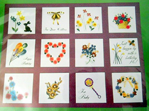 LAKE CITY CRAFT Quilling Kit, All Occasion Gift Tags Makes 12