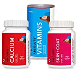 Drools Dog Supplement Combo of Calcium Tablet – 110 Pcs, Vitamin Syrup – 300 ml and Skin and Coat Tablet – 110 Pcs