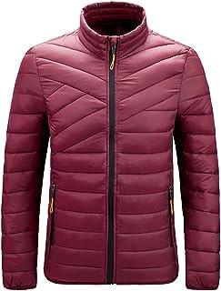 Gutsbox Męska kurtka puchowa, przejściowa, pikowana kurtka zimowa ze stójką, ciepły płaszcz zimowy, na co dzień