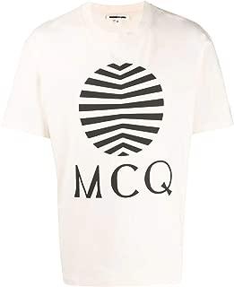 Alexander McQueen Luxury Fashion Mens 291571ROT379089 Beige T-Shirt |