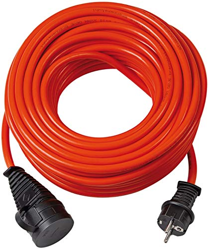Brennenstuhl BREMAXX Verlängerungskabel (25m Kabel in orange, für den Einsatz im Außenbereich IP44, einsetzbar bis -35 °C, öl- und UV-beständig)