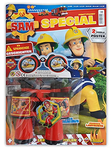 SAMMLERSTÜCK Feuerwehrmann Sam Sammelmagazin Special Nr. 3/2020 Comic Rätsel Poster Extra Sam's Fernglas
