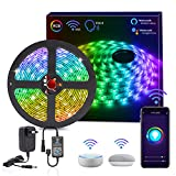 HitLights Smart WiFi LED Strip Lights, 16.4FT RGB 5050 LED Light Kit Working with Alexa, Google Home Phone APP...