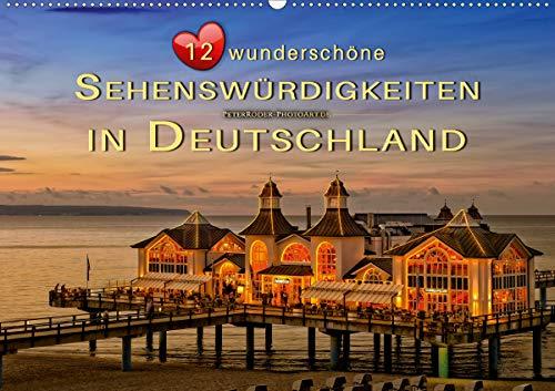 12 wunderschöne Sehenswürdigkeiten in Deutschland (Wandkalender 2021 DIN A2 quer)