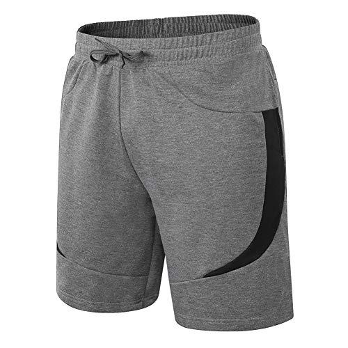MEETWEE Hombres Pantalones Cortos de Running,Deportivos Shorts Transpirable Fitness Pantalón Corto para Gym Gimnasios Correr