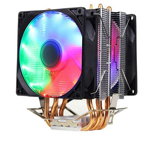 lizeyu 6 tubo de cobre CPU radiador silencio computadora de escritorio CPU ventilador de refrigeración de CPU de 2,5 cm