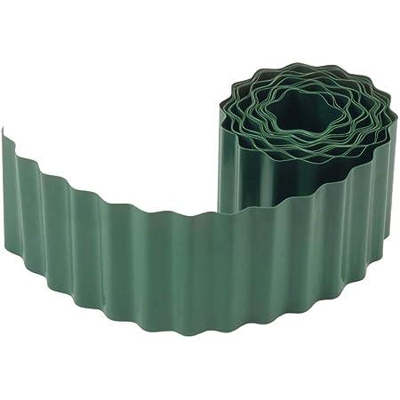 Plastique de Haute Qualit/é 15 cm x 9 m : D/élimitation Id/éale de Pelouse BRKURLEG Bordures de Pelouse /Également pour des Parterres
